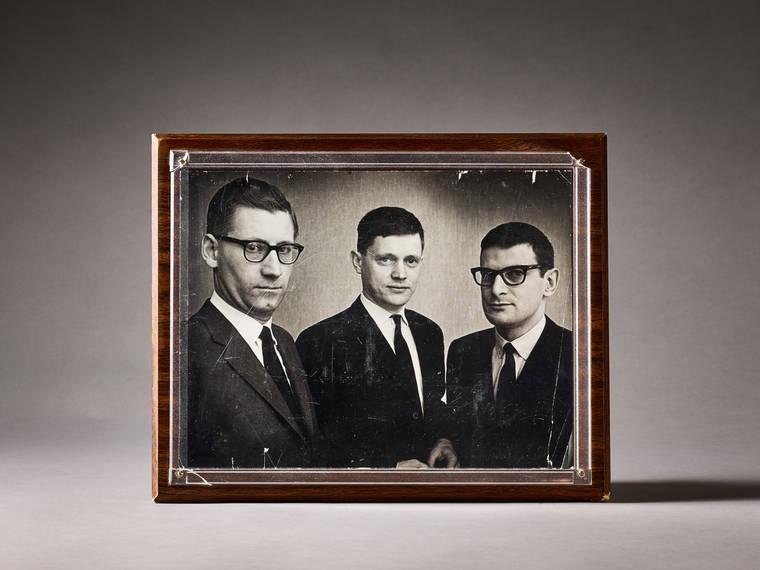 Sevencos grundare från vänster: Harald Marthins, Caj Sigstam och Bengt Stahre.